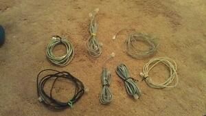 11 PHONE CORDS, VARIOUS SIZES