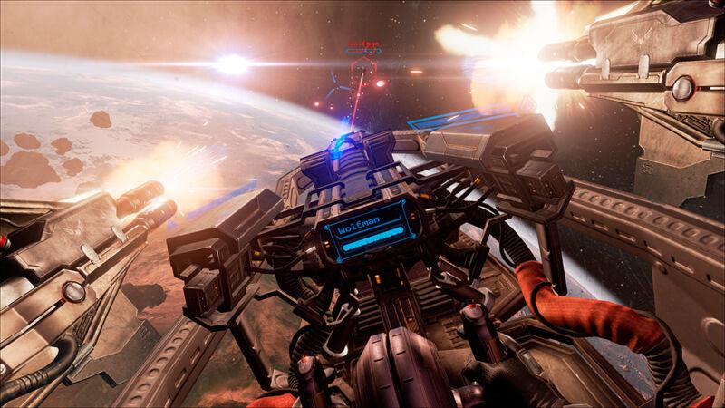 Im Space-Ship Meteoriten ausweichen - Virtual Reality macht jedes Spiel zu einem persönlichen Abenteuer. (© CCP Games)