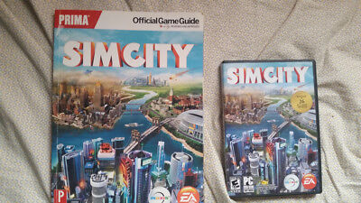SimCity PC computer game and Official Game Guide lot for sale  Oconomowoc