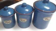 3 piece Portugese Pottery Canister set Mullaloo Joondalup Area Preview