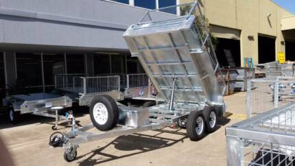10x6 Hydraulic Tipper Cage Trailer (FREE REGO) Electric Brakes