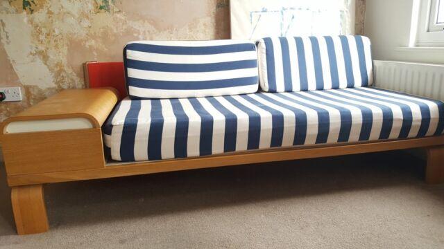 Sofa Bed Blue White Stripe In