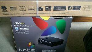 "⭐️Luminar 3D 4K video smart projector comes with luminar 72"""