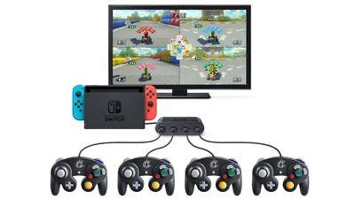 Nuevo Gamecube Controlador Adaptador Para Nintendo Switch Consolas - 4 Bote