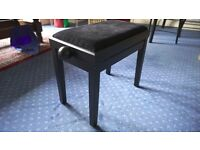 Piano Stool with adjustable height - colour black