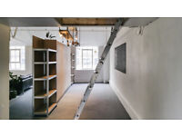 Mezzanine bedroom and large live/work space in converted warehouse loft, East London, All bills Inc.
