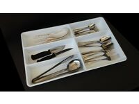 White cutlery utensils storage tray x 2 ONO