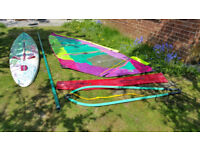 Bic LiteTEC Kevlar Windsurfer complete and ready to sail
