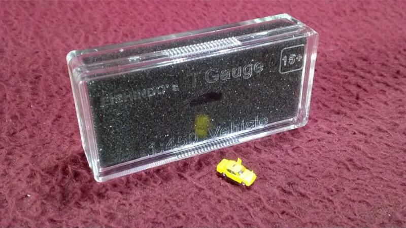 #9 EISHINDO T SCALE 1:450 VEHICLE - TAXI YELLOW W/ RED ROOF DOME - NIP