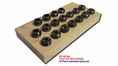 Er25 Ultra-precision 18pc Collet Set 38-58by 32nds 25-set18-inchup Free Ship