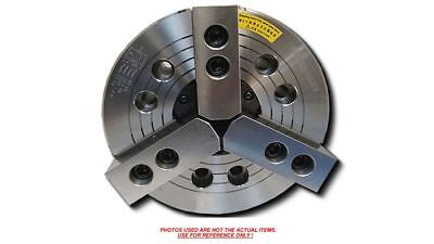 3-jaw 8 Power Chuck Wedge Type Thru-hole With A2-5 Adapter Plate K-208a05-n-b