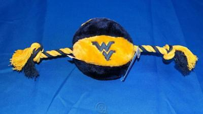 West Virginia Mountaineers WVU Soft Plush Basketball Rope Dog Chew Teething Toy