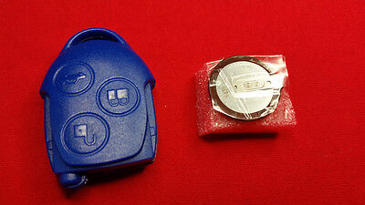 FORD TRANSIT MK7 BLUE KEY FOB REMOTE BATTERY VL2330 & NEW REMOTE CASE