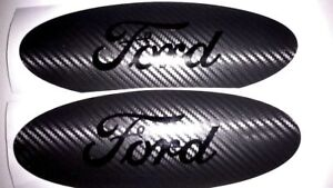 Ford Emblem OVERLAY Oval DECAL Carbon Fiber BLACKOUT EDITION Any Year / Model