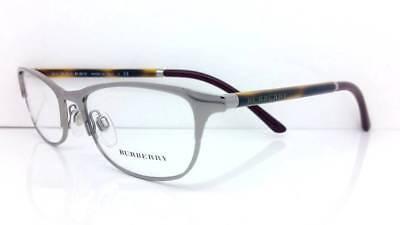 $315 BURBERRY Womens SILVER EYEGLASSES FRAMES GLASSES LENS ITALY B 1249 1006 51