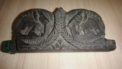 Vintage! Hill Tribe Elephant Opium weight scale & Handmade Teak Wood carving box