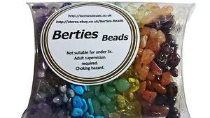 Mixed Mix Genuine Gemstone Chip Beads Chakra Healing Reiki Rainbow Craft Loose