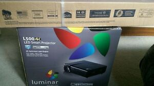 ⭐️Luminar 3D 4K video smart projector comes with luminar 72""