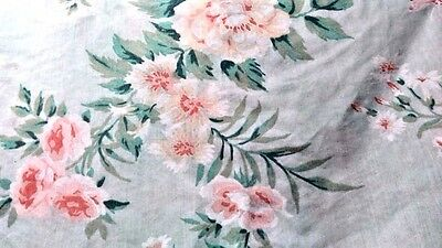 (Utica Standard Pillowcase 2 pale green floral lace trim shabby cottage chic)