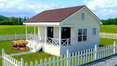 Affordable Tiny House  Plans Small Home One Bedroom Crawl Space Foundation Cd