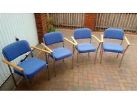 Office chairs meeting room or waiting area with glasstop meeting table