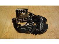 Genuine Michael Kors Maddox sandals size 8 goth gladiator eyelets size 8 goth