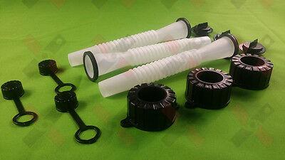 3 Replacement Spout & Parts Kit for Rubbermaid, Kolpin, GOTT, Lawnmower Parts
