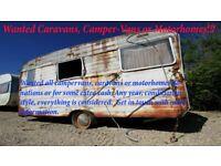 Wanted Caravans, Camper-Vans, Trailers or Motorhomes!!!