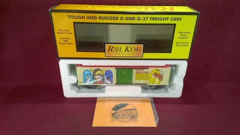 MTH RAIL KING 30-74656 2001 HOLIDAY CHRSTMAS BOX CAR - NIB