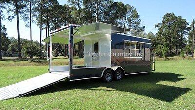NEW 8.5x22 8.5 X 22 Enclosed Concession Food Vending BBQ Trailer w/ Porch Deck