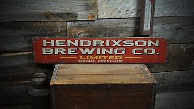 Custom Brewing Company City / State Sign - Rustic Hand Made Wooden ENS1000225](Party City Customs)