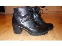 Dune leather boots size 8