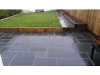 Black slate paving 20mm Calibrated