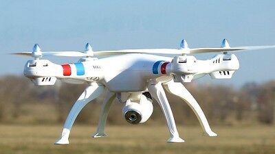 Large HD WiFi Camera Drone 308C 2.4Ghz 4CH 6-Axis RC Headless Quadcopter White