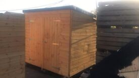 8ft x 7ft Wooden Pent Garden Shed