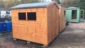 8ft x 6ft Apex Wooden Garden Shed