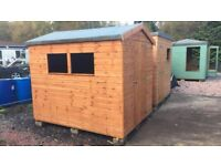 CLEARANCE: 8ft x 6ft Wooden Garden Shed