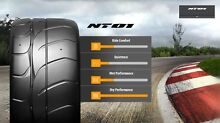 2X 205-50-15 NITTO NT01 SEMI SLICK RACE TYRES BMW Arncliffe Rockdale Area Preview