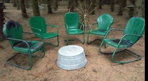 Vintage 1940s Metal Patio Chairs