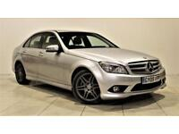 MERCEDES-BENZ C CLASS 2.1 C200 CDI SPORT 4d 135 BHP WELL MAINTAINED + SERVICE HISTORY (silver) 2009