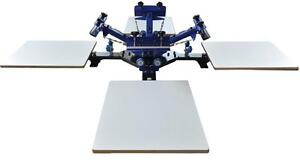 Four Color Four Station Screen Fix On Table T-Shirt DIY Press Printing Machine Press Stamp Equipment  T-shirt DIY219007