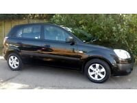 Cheap 08 Plate! KIA RIO 1.4 Black 5 doors. Long MOT, only 2 previous owners, very good condition.