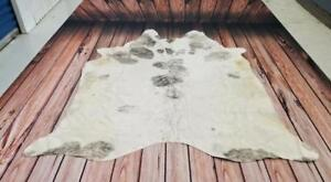 Grey And White Cowhide Rug Gray Peau De Vache 85 X 75 Inches 1260