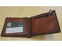 'animal' tan leather wallet