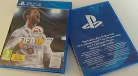 PS4 FIFA 18 NEW & UNOPENED **PLUS** FIFA ultimate team rare players pack (14 day trial) NEW/UNOPENED