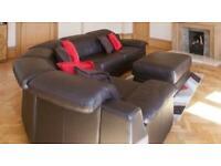 Dfs Corner Sofa leather brown
