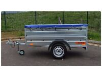 Car Camping box trailer double broadside + top cover 750kg
