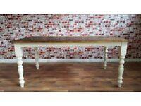 Wide Rustic Farmhouse Reclaimed Pine Kitchen Dining Table - Free Delivery