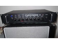 Carvin B2000 bass guitar amp head FOR QUICK SALE. Loud and light.
