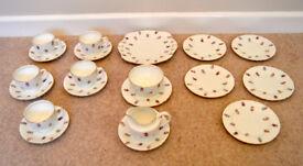 Sunderland White Bone China Floral Tea Set Made in England